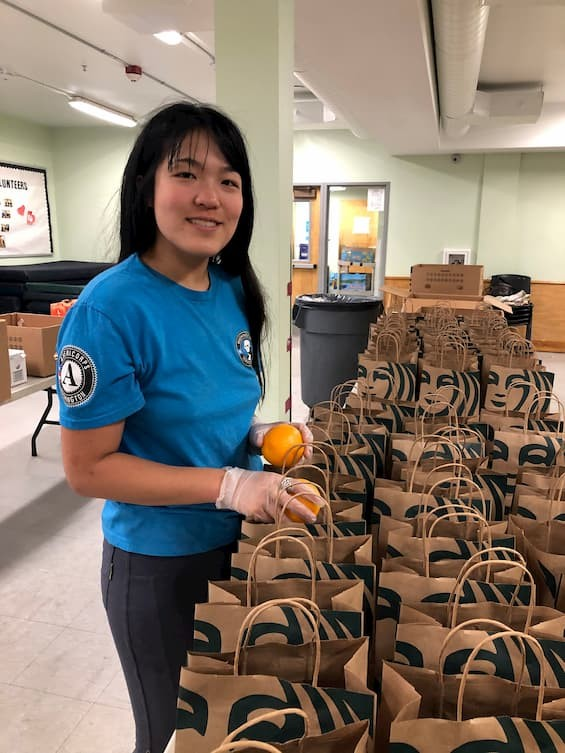 Green Schools AmeriCorps adapts her work to meet hunger needs in Clark County
