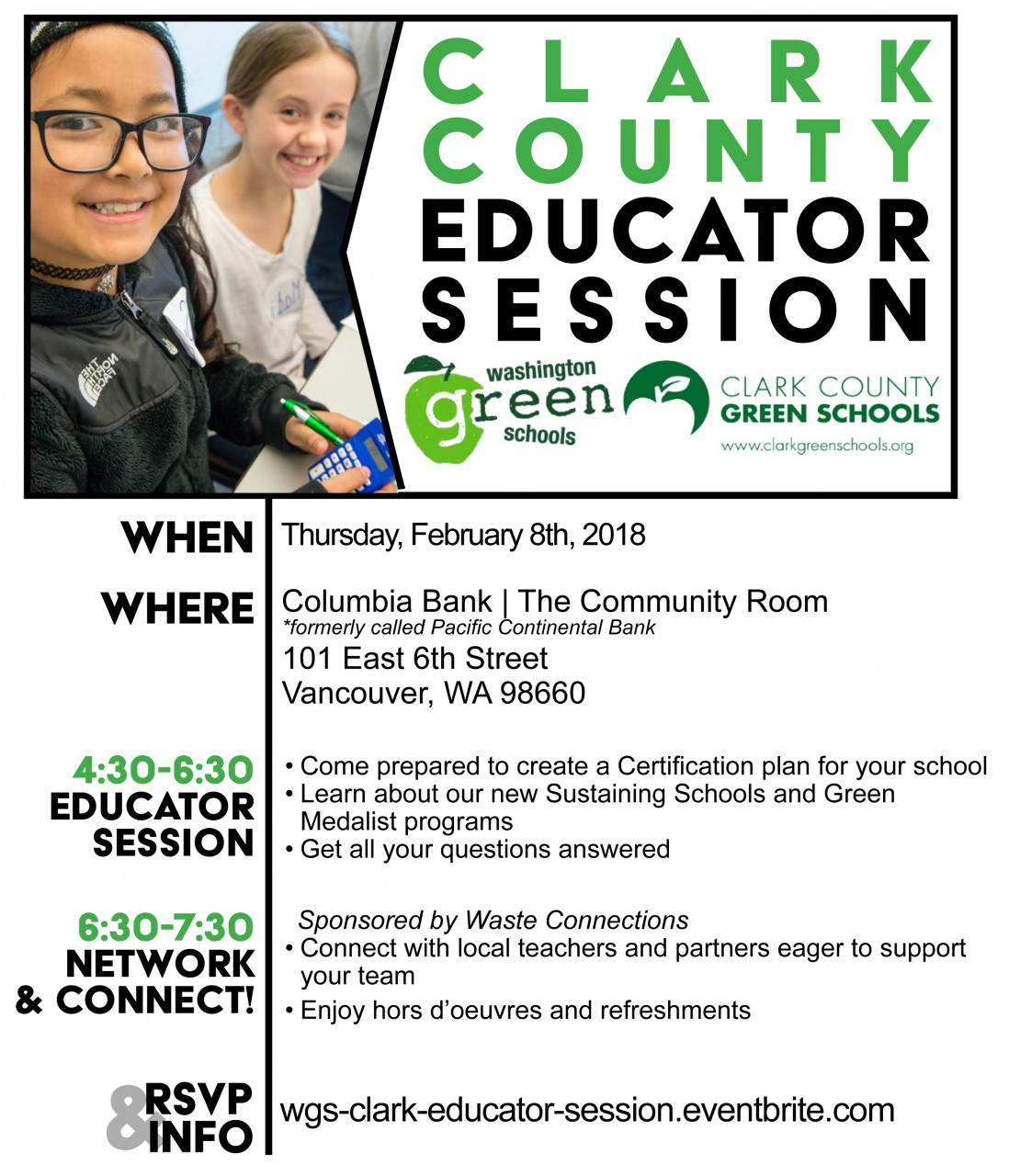 February 8th - Clark County Green Schools Winter Educator Session