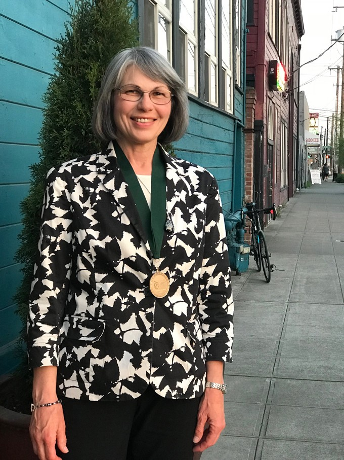Ellen Ives honored with statewide Washington Green Schools Green Medalist award