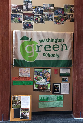 grass valley elementary green schools display